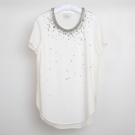 3.1 Phillip Lim - T-SHIRT /BEADS WHITE
