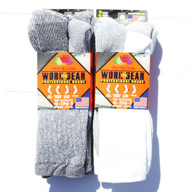 FRUIT OF THE LOOM - Pro Grade 4-in-1 Work Socks (2pack/Made in USA)