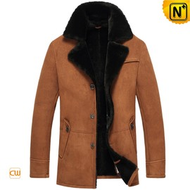 CWMALLS - Shearling Sheepskin Coat for Men CW851255