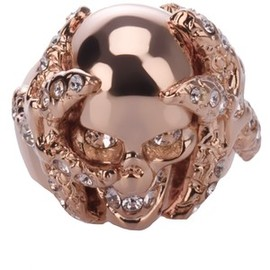 Alexander McQueen - Skull and Coral Ring
