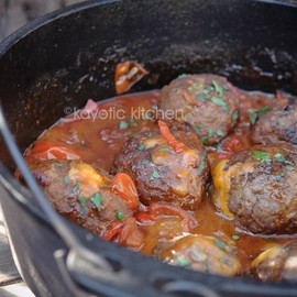 Mountain Meatballs - Mountain Meatballs. Meatballs filled with cheddar and simmered in a wonderful chili sauce.