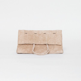irose - paper clutch bag / light brown