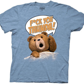 Ted - Movie Ted F*ck You Thunda! Adult Lt. Blue Heather Tee