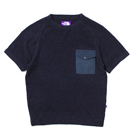 THE NORTH FACE PURPLE LABEL - Knit Pile H/S Sweat Shirt