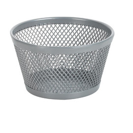 Rubbermaid - OfficeMax Mesh Clip Dish, Silver