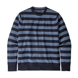 patagonia - M's Recycled Cashmere Crewneck Sweater, Navy Blue w/Woolly Blue (NBWB)