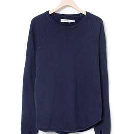 nonnative - DWELLER CREW LS - COTTON OVER DYED SWEAT