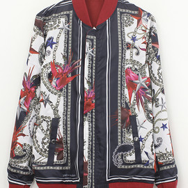 yoshio kubo - chain flower bomber jacket
