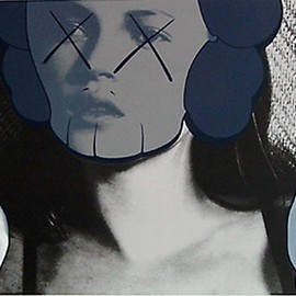 KAWS - Silk Screen Kate Moss