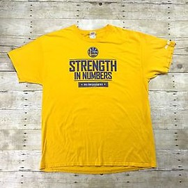 Golden State Warriors - 2015 Golden State Warriors Strength in Numbers Conference Semis Promo Shirt XL