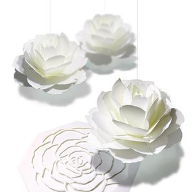 ダリアのポップアップカード     POP-UP CARD DAHLIA  https://paper-and-arts.amebaownd.com