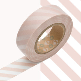 mt - MT Japanese Washi Tape STRIPE MOMO 15mm x 10m (kmmt-mkt1pd-o)