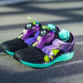 PUMA - PUMA FUTURE DISC LITE TECH'D OUT BLACK/ELECTRIC GREEN