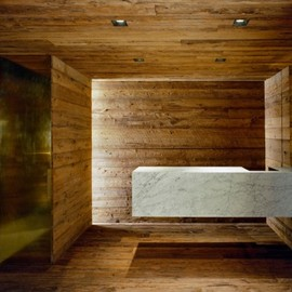 Sebastian Marsical Architect - Entrance, Marble & Reclaimed Wood , Pio Pio Restaurant, NY