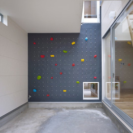 naf architect & design -  3 way House with Climbing Wall