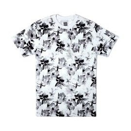 HUF - FLORAL POCKET TEE (White/Black)
