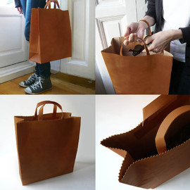 Leather Roll Top Bag