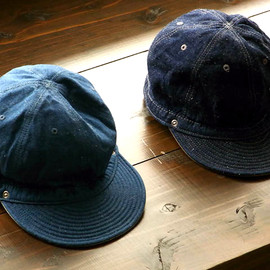 DECHO - KOME CAP[SEA BLUE DENIM]