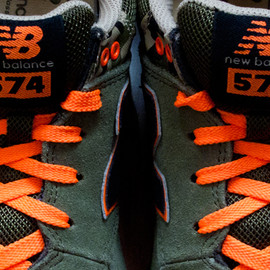 New Balance - 574 - CAMO/Olive/Black/Orange
