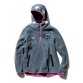 F.C.R.B. - POLARTEC® FLEECE HALF ZIP STAR HOODY