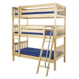 Taylor Slatted Medium Triple Bunk Bed