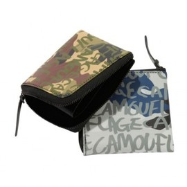 "mtg. - Camo Leather Wallet ""Square"""