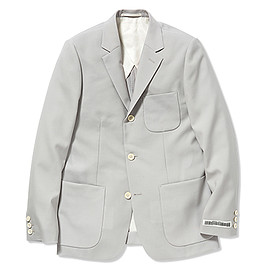 UNIVERSAL PRODUCTS - TOROPICAL WOOL TAILORED JACKET/L.GRAY