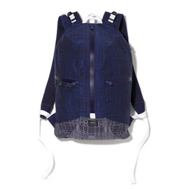White Mountaineering - WM1371815T/C JACQUARD GEOMETRIC PATTERN BACKPACK
