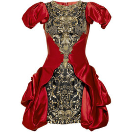 Alexander McQueen - Embellished silk satin dress
