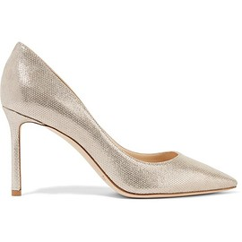 Jimmy Choo - Romy metallic printed leather pumps