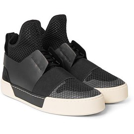 Balenciaga - Suede, Leather and Mesh High-Top Sneakers