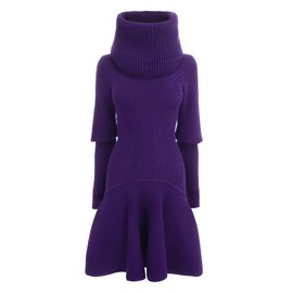 Alexander McQueen - PRE-AUTUMN/WINTER 2013 FUNNEL NECK KNIT DRESS