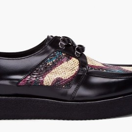PIERRE HARDY - WHITTLE SNAKE CORDOVAN SHOES