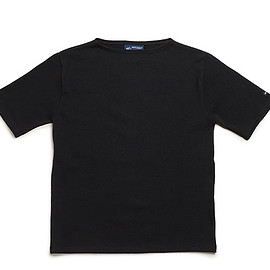 SAINT JAMES - Ouessant Short Sleeve Shirts-Noir
