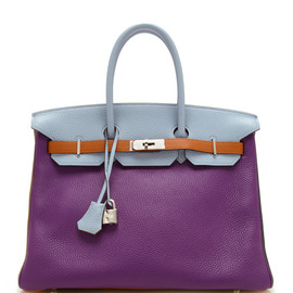 HERMES - 35Cm 6 Color Clemence Leather Arlequin Birkin