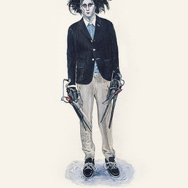 John Woo - He Wears It 018 - edward SCISSORHANDS wears Band of Outsiders