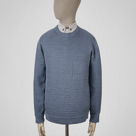 S.E.H KELLY - Airforce blue link stitch jumper