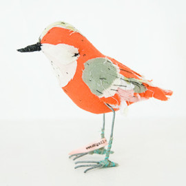 Abigail Brown - small fabric bird
