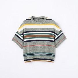 TOMORROWLAND, MACPHEE - Cotton Nylon Malti Border Pullover