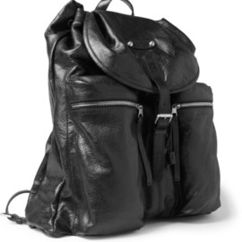 BALENCIAGA - Traveller Creased-Leather Backpack