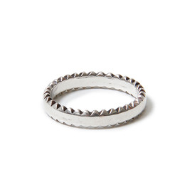 "nonnative - DWELLER RING ""W STUDS"" - 925 SILVER by END"