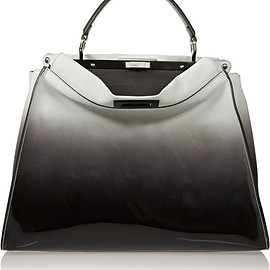 FENDI - SS2015 Peekaboo large dégradé suede and patent-leather tote