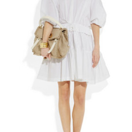 Chloe - Cotton-poplin dress