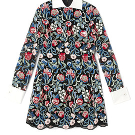VALENTINO - Long Sleeved A-Line Dress With White Collar And Cuffs