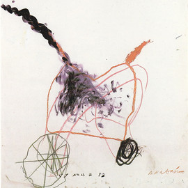 Cy Twombly - Anabasis, 1983, mixed media on paper