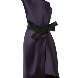 LANVIN - Asymmetric Silk Satin Dress