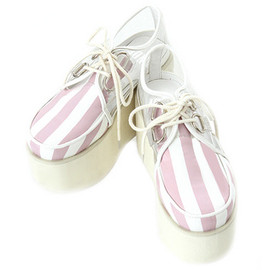 Candy Stripper - STRIPE CLEAR HIGH SOLE SHOES