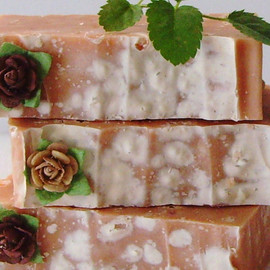 Luulla - Rose and Sea Salt Cold Process Soap with French Clay and Shea Butter