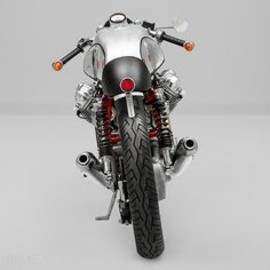 Moto Guzzi - The blinker placement on this Moto Guzzi is rad.