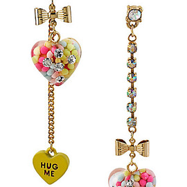 BETSEY JOHNSON - HEART CANDY MISMATCH EARRING MULTI